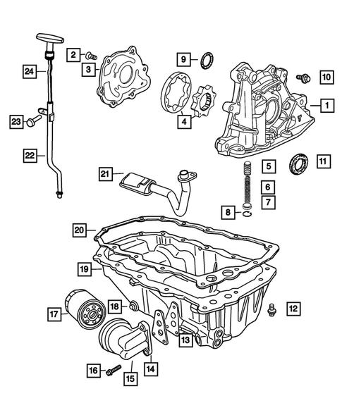 Engine Oiling For 2005 Chrysler Pt Cruiser Dodge Parts Online