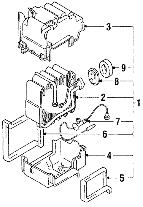 condenser  compressor  u0026 lines for 1997 mitsubishi 3000gt