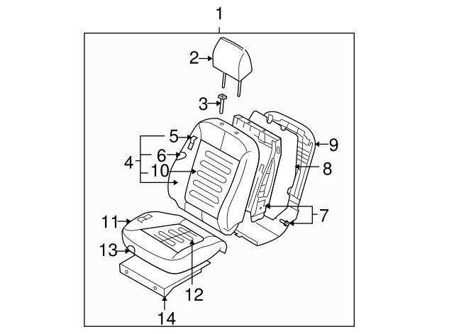 TOYOTA Genuine 71812-12240-12 Seat Cushion Shield
