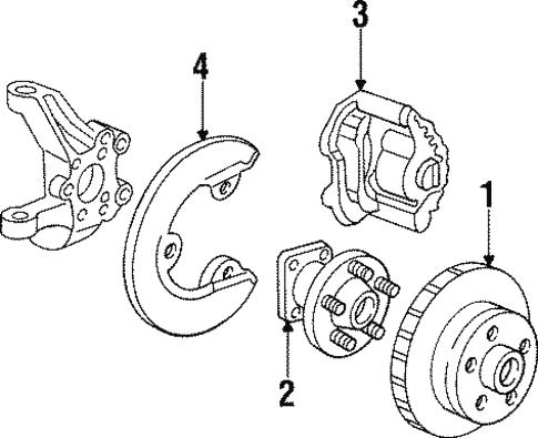 Front Brakes For 1993 Chevrolet Corvette