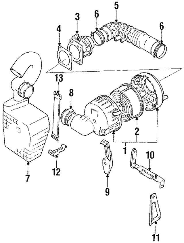 1989 1994 Suzuki Swift Mass Air Flow Sensor 1380064b00