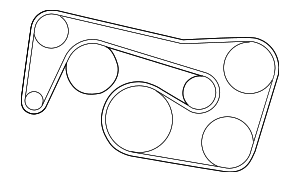 Serpentine Belt - Mercedes-Benz (002-993-54-96)