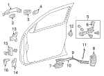 Handle, Outside - Toyota (69210-0E080-E2)