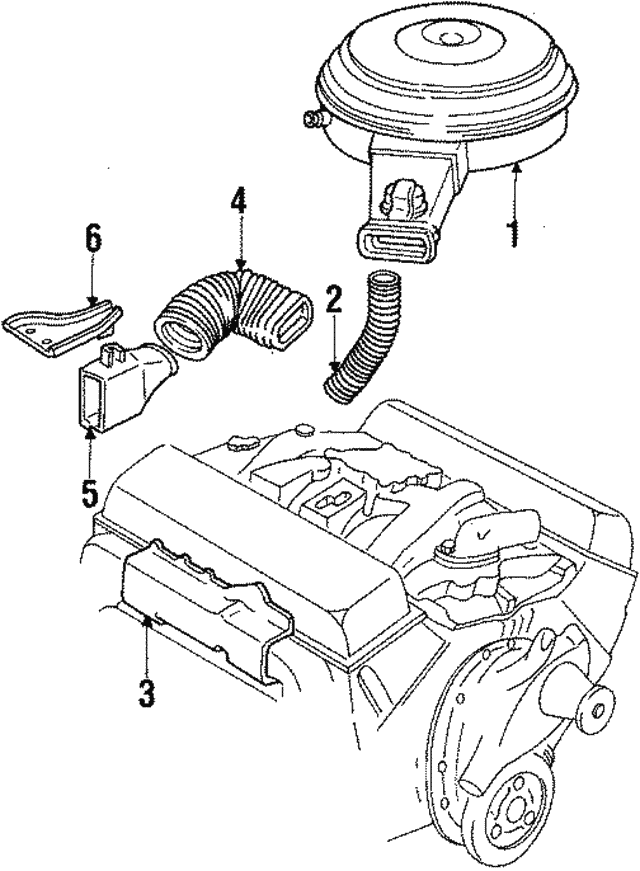 flex tube gm 14070935 gmpartsdirect Custom 1985 El Camino Conquista part can be found as reference 5 in illustration