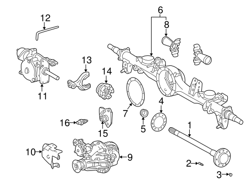 REAR SUSPENSION/AXLE & DIFFERENTIAL for 2005 Toyota Land Cruiser #1