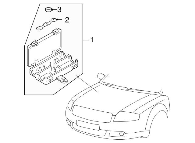 2013 Audi A7 Fuse Box