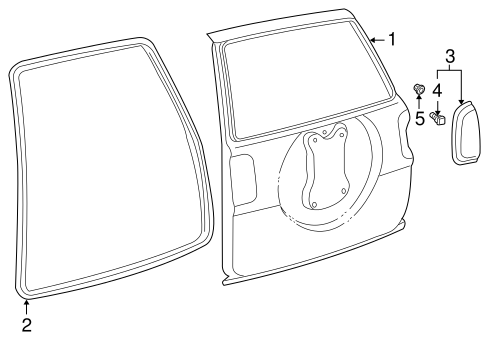 Door & Components for 1997 Toyota RAV4 #2