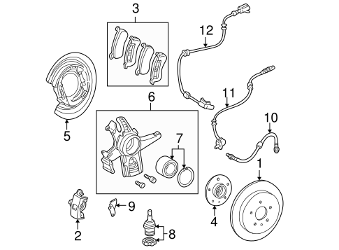 Brake Components for 2003 Mercedes-Benz ML 320 #1
