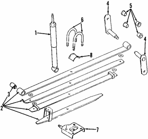 Shock Absorber Assembly, Rear Suspension