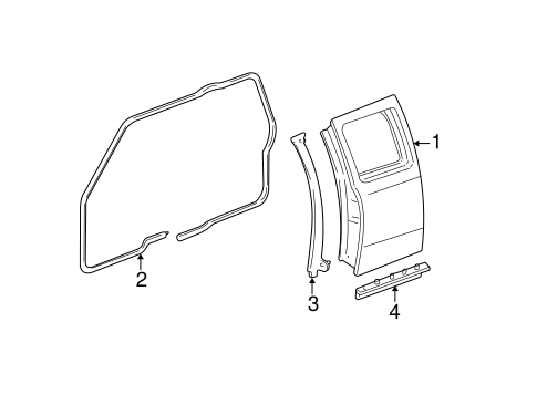 Body/Door & Components for 2008 Ford Ranger #2
