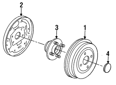 Brakes/Rear Brakes for 1997 Ford Contour #2