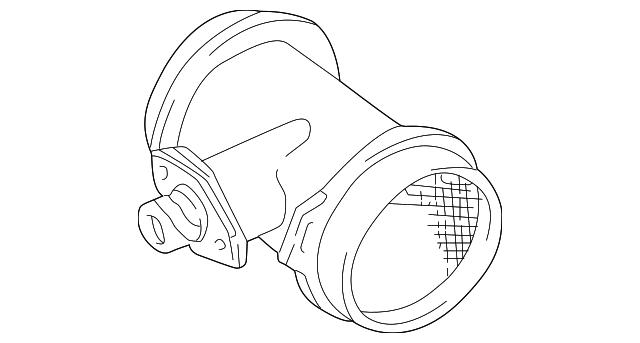 1994 2001 Bmw Mass Air Flow Sensor 13 62 1 736 224