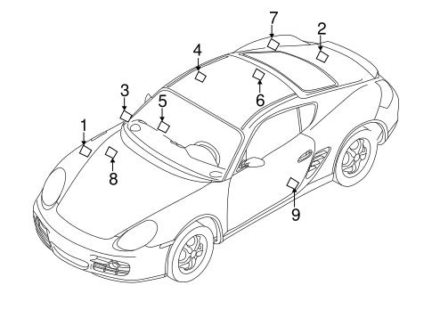 Labels For 2011 Porsche Cayman