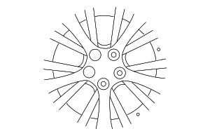 Wheel, Alloy - Mazda (9965-31-7070)