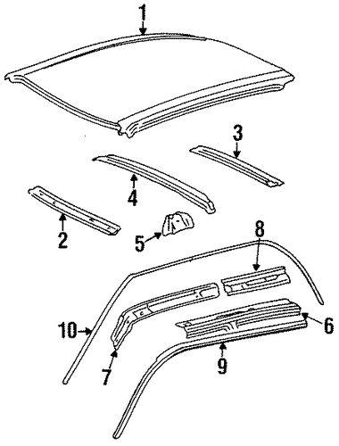 BODY/EXTERIOR TRIM - ROOF for 1997 Toyota Tercel #1