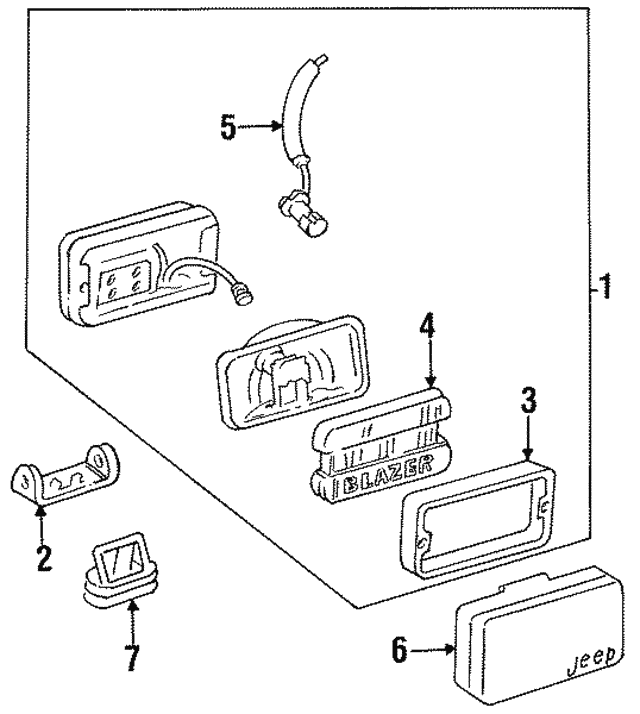 1992 2001 jeep fog l assembly bracket 4638843 airpark dodge Simple Series Circuit Diagram fog l assembly bracket mopar 4638843