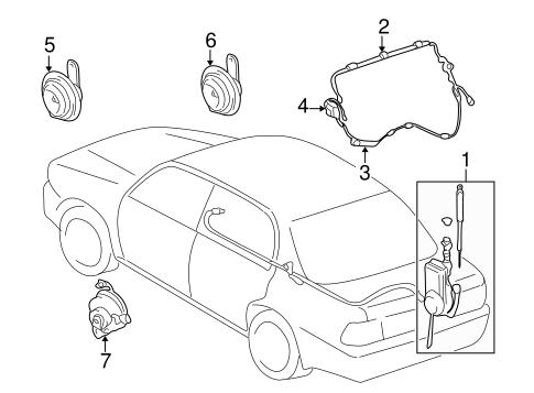 Antenna Radio For 2000 Toyota Camry