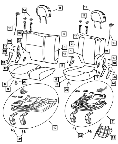 Rear Seats and Attaching Parts for 2003 Jeep Grand Cherokee #2