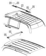 Luggage Rack Side Rail, Left - Mopar (68078093AB)