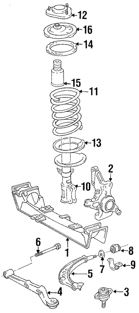 FRONT SUSPENSION/SUSPENSION COMPONENTS for 1996 Toyota Previa #1