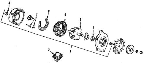 electrical/alternator for 1986 ford e-350 econoline club wagon #1