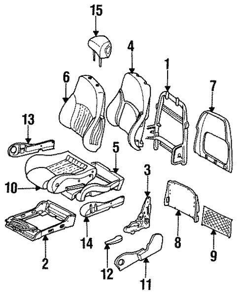 Seat Assembly For 1996 Pontiac Firebird