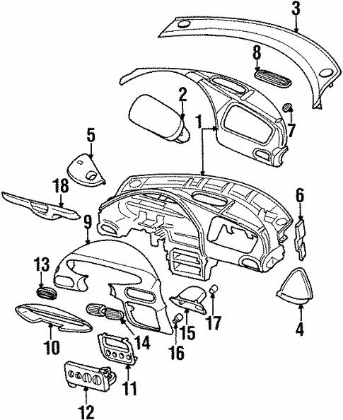 Instrument Panel For 1996 Chrysler Sebring