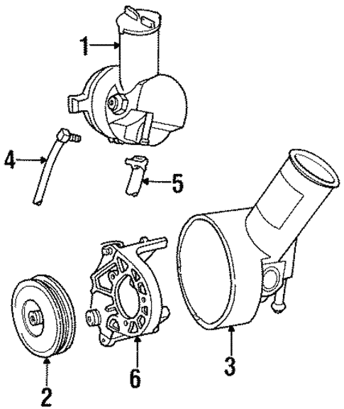 fuel system components for 1995 ford taurus