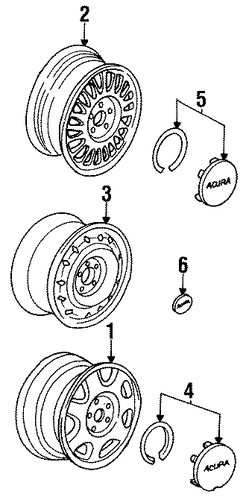 Cap Assembly, Wheel Center