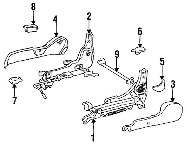 Toyota Genuine 71861-16140-04 Seat Cushion Shield