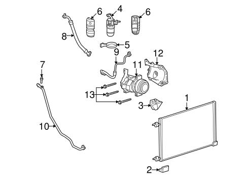 Condenser, Compressor & Lines for 2007 Hummer H2 | GMPartOnline on