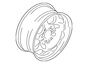 Wheel, Alloy - Ford (JL1Z-1007-C)