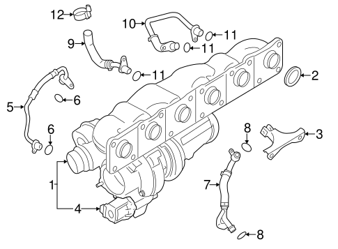 Turbocharger Components For 2015 Bmw 335i
