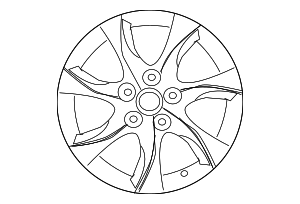 Wheel, Alloy - Mazda (9965-72-7070)