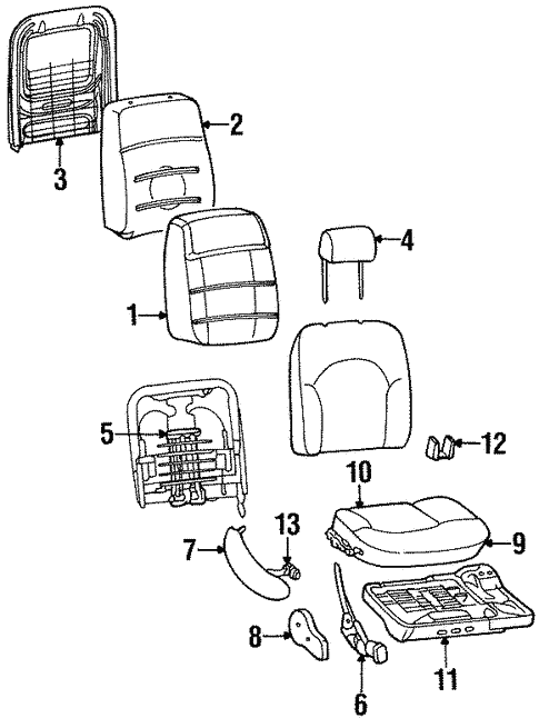 Front Seat Components For 1997 Lincoln Continental