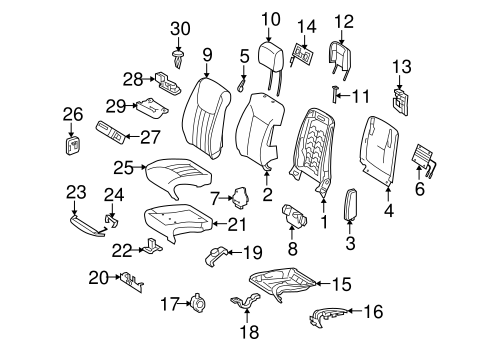 Front Seat Components for 2010 Mercedes-Benz ML 550 #0
