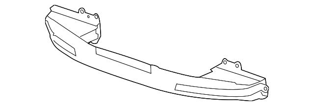 genuine honda beam  front bumper 71130tvaa00