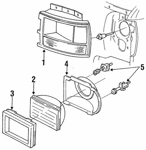 Headlamp Components For 1992 Dodge Dakota Tascaparts Com
