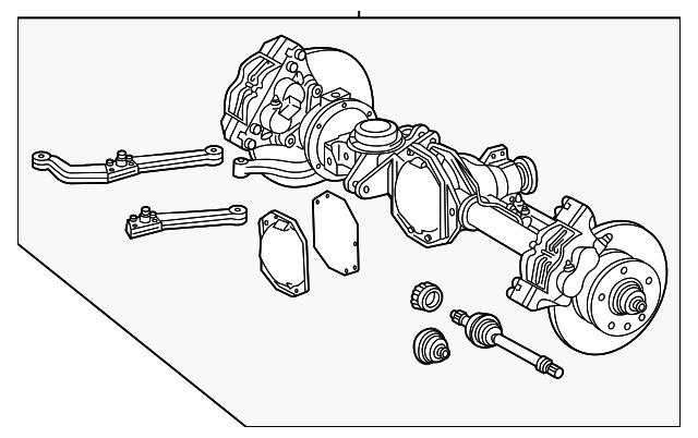 Axle assembly mercedes benz 006 015 230 factory oem for Mercedes benz axle assembly