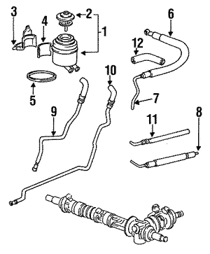 Power Steering Return Hose