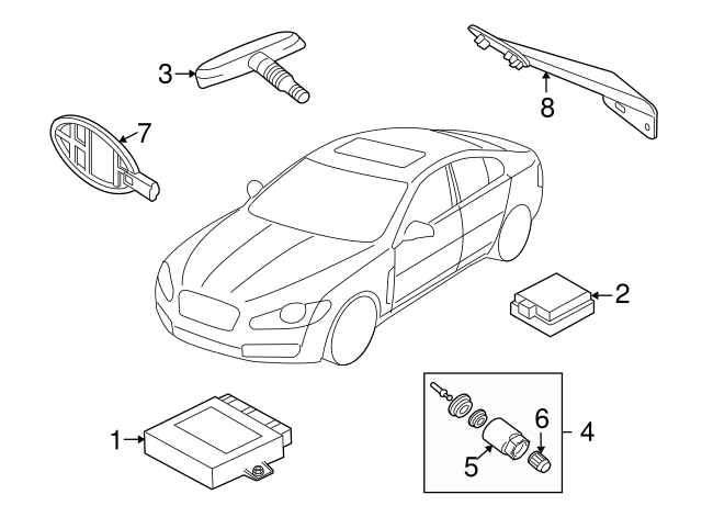 2010 2015 Jaguar Control Module C2p25960