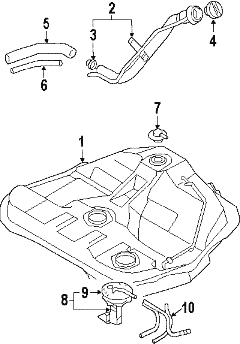 Fuel System Components For 1999 Mitsubishi Diamante Auto Parts