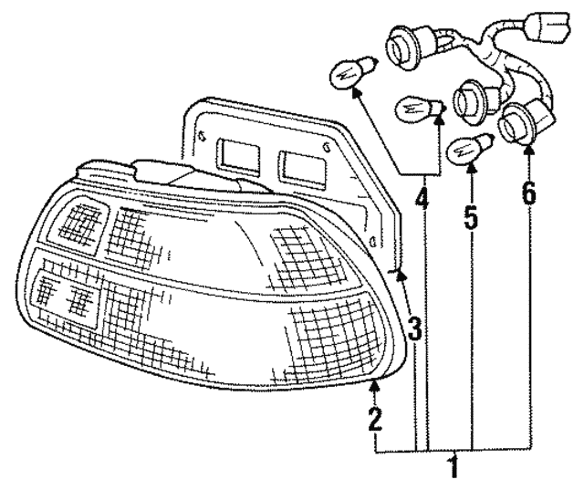 1973 1997 Honda Bulb 12v 32cp 34903 Sb6 671