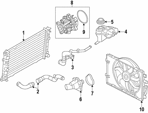 cooling system for 2010 mercury milan beechmont ford parts 2010 Subaru Outback Engine Diagram