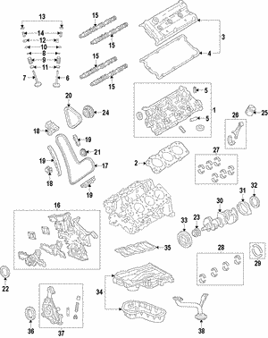 engine parts mylexusparts Lexus LX470 Parts Diagram piston