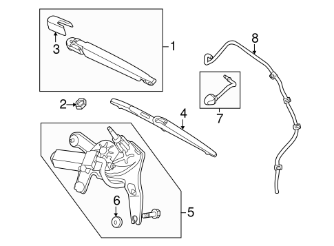 Wiper & Washer Components for 2011 Kia Sorento #1