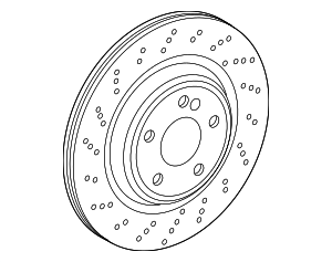 Disc Brake Rotor - Mercedes-Benz (231-423-06-12)