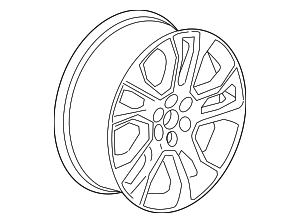 Wheel, Alloy - GM (23165678)