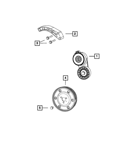 Pulleys and Related Parts for 2015 Jeep Renegade #0