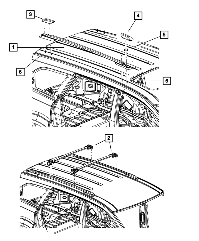 Chrysler Genuine 5178369AB Luggage Rack Cover
